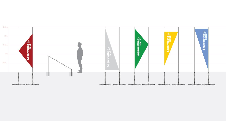 Sagarmatha Next flags